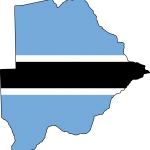 botswana_flag_map